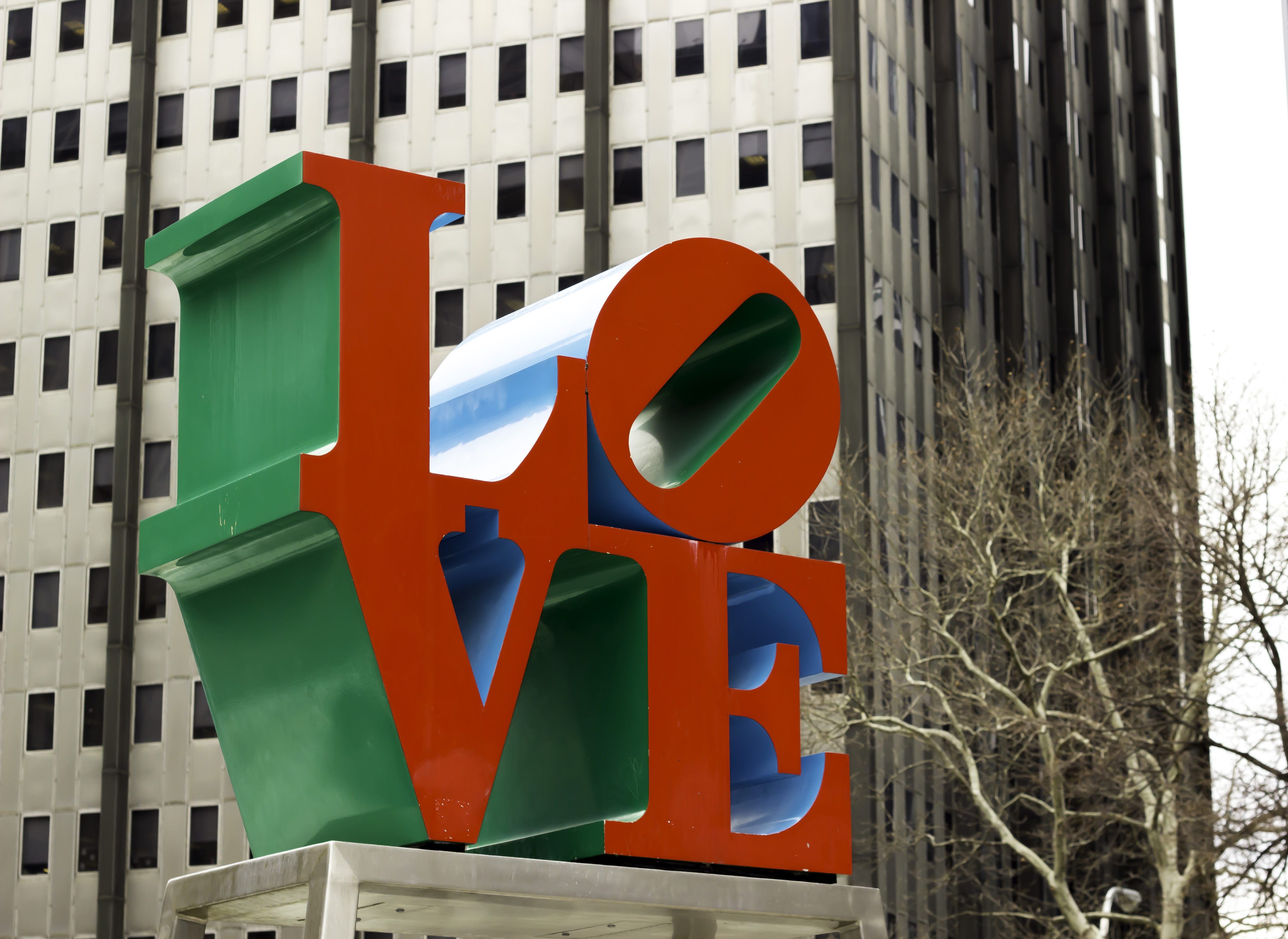 Love sign in Love Park Philadelphia, PA